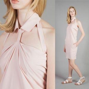 Saku New York Collar Linked Flowy Dress Cut Out